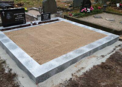Graniitplaatidega hauapiirded