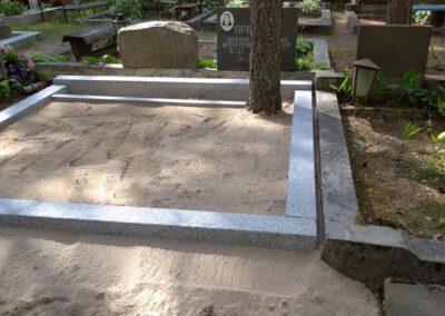 Lihvitud betoonist hauapiirded